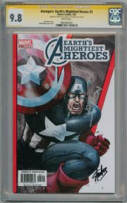 Avengers Earth's Mightiest Heroes #2 CGC 9.8 Signature Series Signed Stan Lee & Joe Simon Marvel comic book